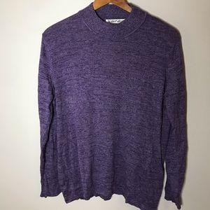 WinterSilks purple mock turtleneck sweater